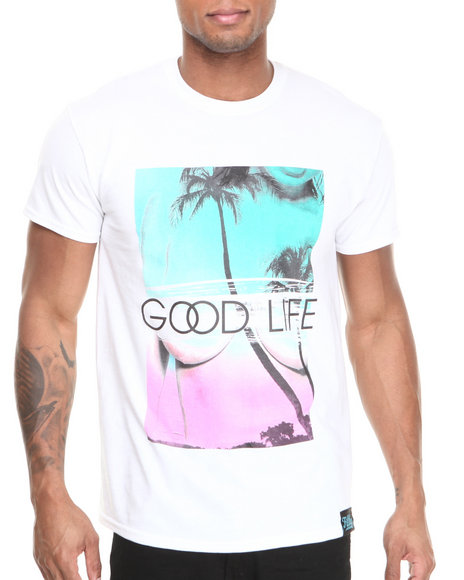 Filthy Dripped White Good Life T-Shirt