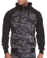 Men - Great Wave Zip-up Hoodie