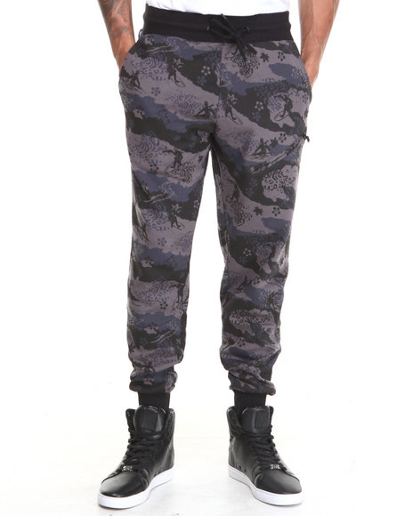 Rocksmith - Men Black Great Wave Slim Jogger