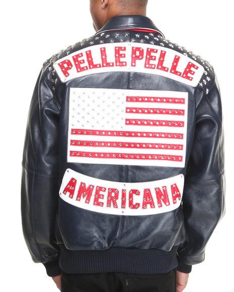 Pelle Pelle Leathers Navy Americana Navy Plush Jacket