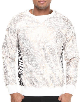 Rolling Paper - Printed PU Crew Sweatshirt