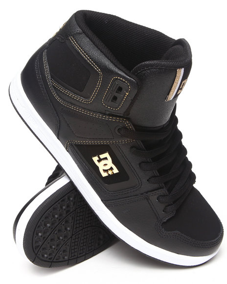 Dc Shoes - Men Black,Gold Factory Lite High Sneakers