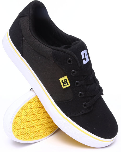 Dc Shoes - Men Black,Yellow Anvil Tx Sneakers - $44.99