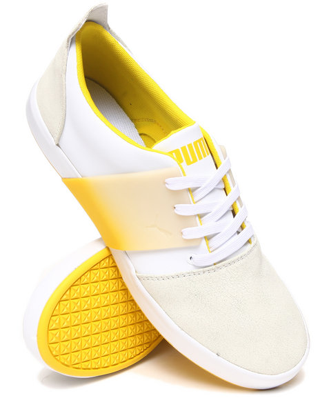Puma - Men White El Ace 3 Lo Dip Dye Sneakers