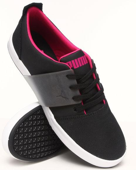Puma - Men Black El Ace 3 Lo Dip Dye Sneakers
