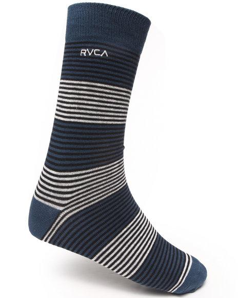 Rvca Men Zeb Socks Dark Blue