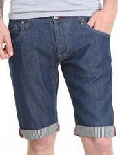 Men - DENIM SHORTS, STRIPED YARN DYED LINING