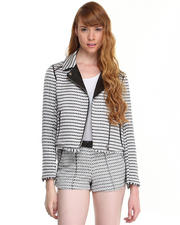 Light Jackets - Raelyn Tweed Moto Jacket