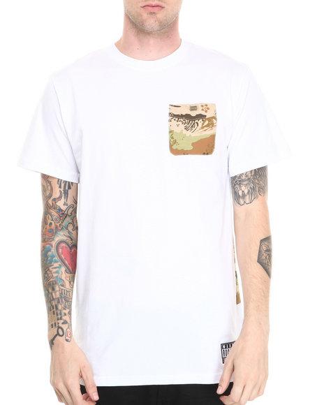 Rocksmith - Men White Great Wave Pocket T-Shirt