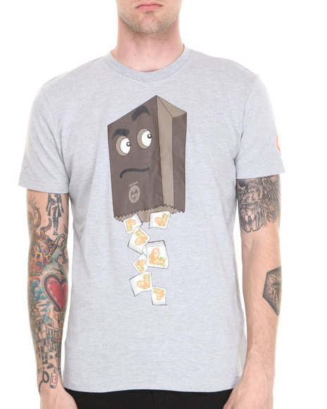 S M W Grey Brown Bag Tee