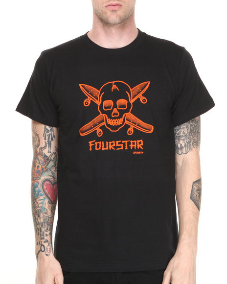 Fourstar - Men Black Dressen Pirate Tee