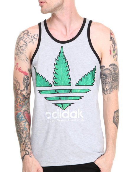 S M W Grey Dream Kush Tank Top
