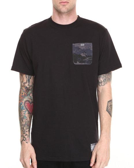Rocksmith - Men Black Great Wave Pocket T-Shirt