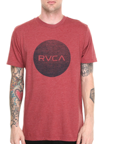 Rvca - Men Maroon Motors Tee