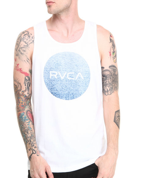 Rvca - Men White Motors Tank