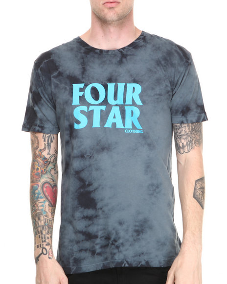 Fourstar - Men Black Four Hero Lightning Wash Tee