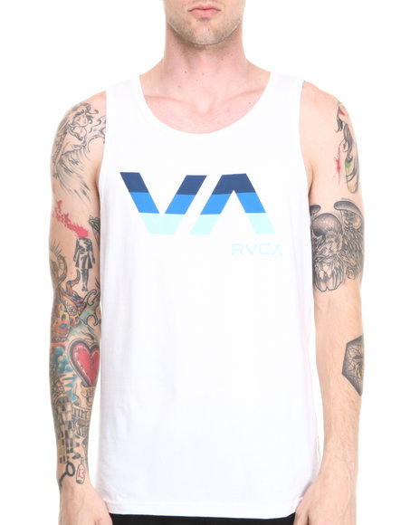Rvca - Men White Va Tribar Tank