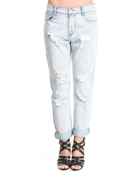 MINKPINK Light Wash Instinct Blues Boyfriend Jeans