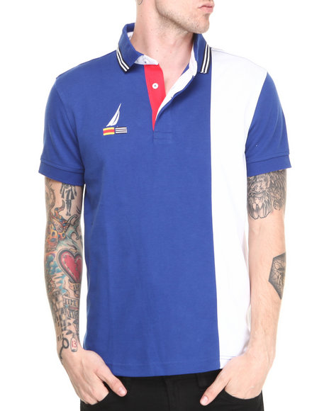 Nautica - Men Blue Performance Ponte S/S Polo