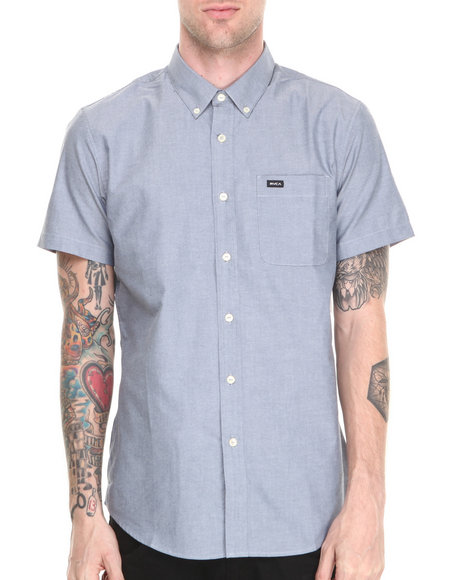 Rvca - Men Blue That'll Do Oxford S/S Button-Down