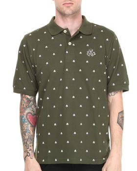 Akademiks - Manhunt Allover Print Short Sleeve Pique Polo