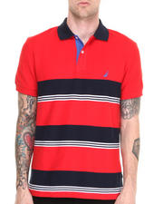 Men - Honeycomb Pique Stripe Polo