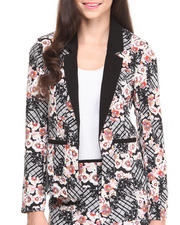 Women - Shibori Flower Blazer