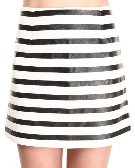 MINKPINK Black,Cream Next In Line Skirt