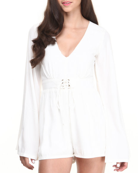 Minkpink - Women White Follow Me To Heaven Romper