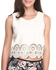 Tops - Stepping Up Laser Cut Top