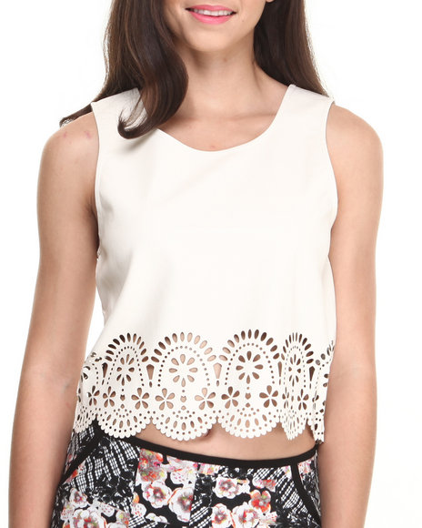 MINKPINK - Stepping Up Laser Cut Top