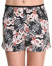 Women - Shibori Flower Shorts
