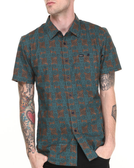 RVCA Blue Hey S/S Button-Down
