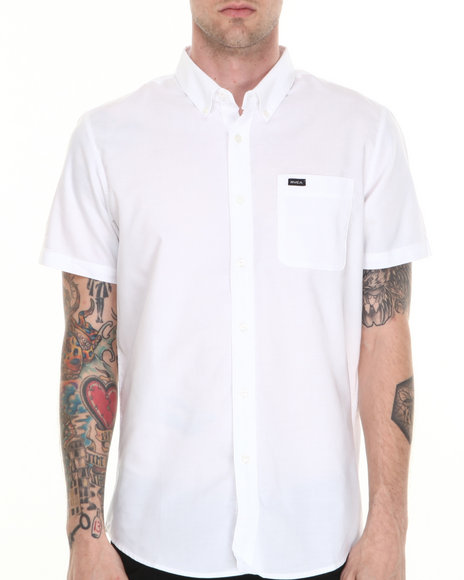 RVCA White That'll Do Oxford S/S Button-Down