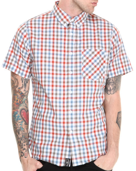 Fourstar White Mariano Gingham S/S Button-Down