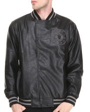 Men - Makavelli Vegan Leather Varsity Jacket