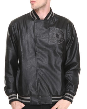 Rocksmith - Makavelli Vegan Leather Varsity Jacket