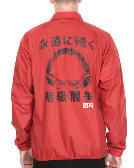 RVCA Red Anp Coaches Jacket