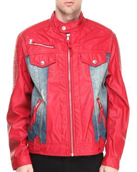 Winchester - P U Trimmed Denim Jacket