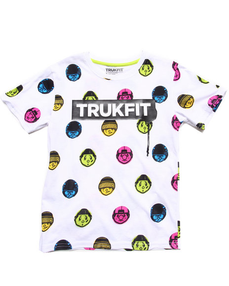 TRUKFIT Boys White All-Over Tommy Tee (8-20)