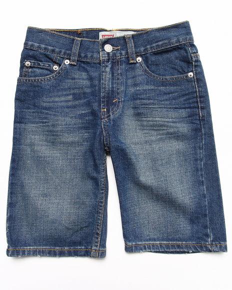 Levi's Boys Light Wash,Medium Wash 505 5-Pocket Clouded Tones Shorts (8-20)