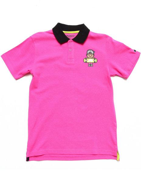 TRUKFIT Boys Pink Lil' Tommy Polo (8-20)