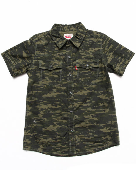 Levi's Boys Camo Reseda Western Camo Shirt (8-20)