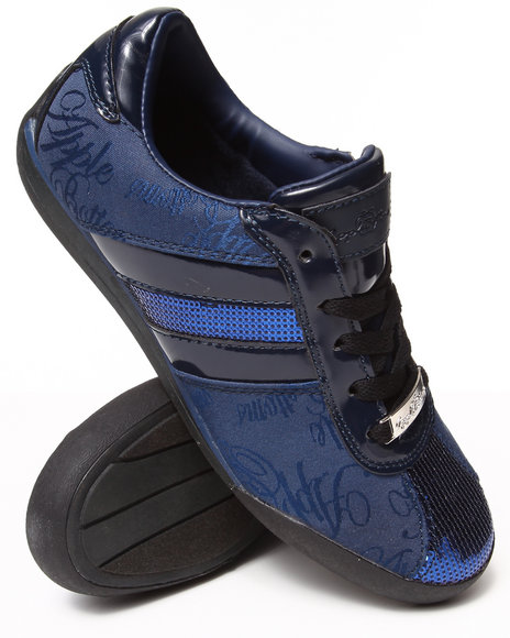 Apple Bottoms - Women Navy Amore Patent Trim Sneaker