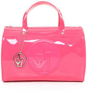 Accessories - Eco Patent Bowler Bag w/ Logo Medallion