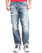 True Religion - Ricky Straight Vintage Destroyed Jean