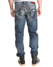 True Religion - Ricky Straight Gold/Org. Super T Jean
