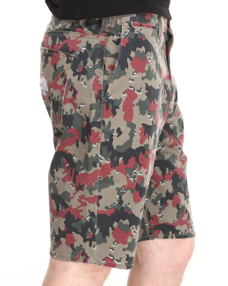 Dc Shoes - Men Camo Dc Worker Straight Fit Shorts