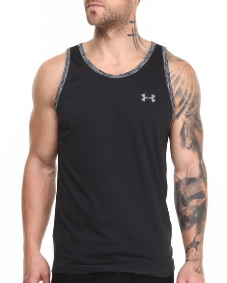 Under Armour Black Tech Tank (Moisture Transport & Anti-Odor Technology)