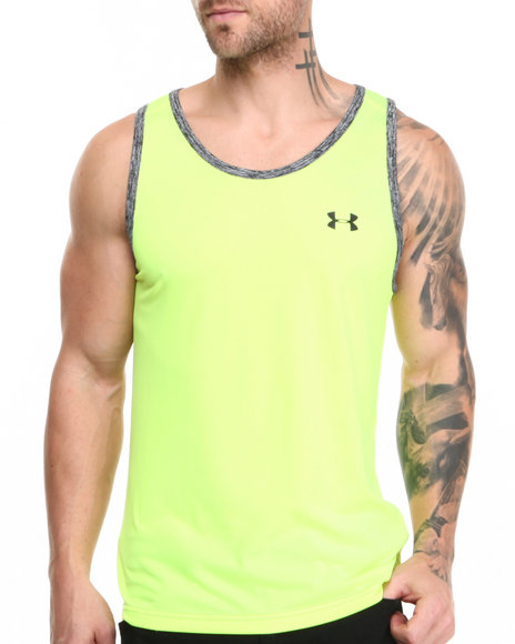 Under Armour Yellow Tech Tank (Moisture Transport & Anti-Odor Technology)